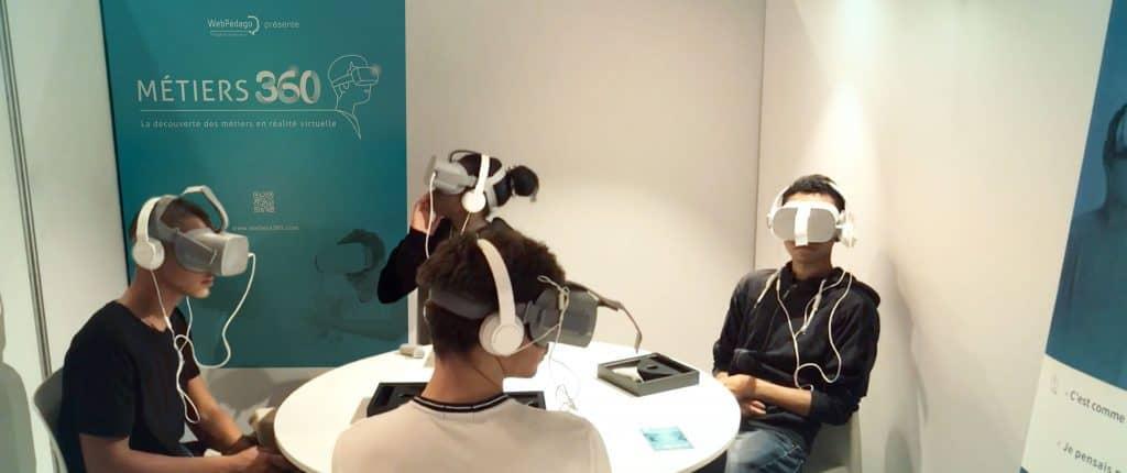 La découverte des métiers en réalité virituelle avec métiers 360