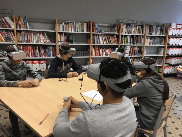 Atelier pédagogique découverte des métiers en réalité virtuelle
