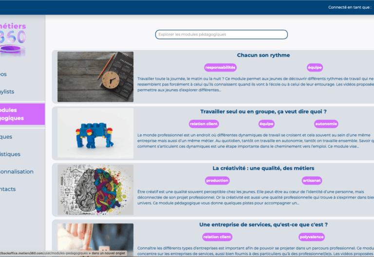 modules pedagogiques